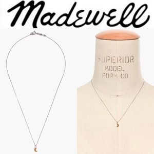 Madewell Vermeil Crescent Moon Charm Necklace